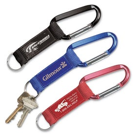 Carabiner Key Tag with Strap
