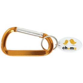 Carabiner Keytag Printed with Your Logo