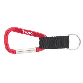 Promotional Carabiner with Blank Lanyard