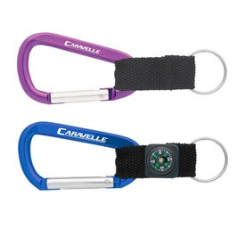 Carabiner with Blank Lanyard