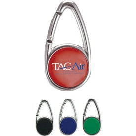 Monogrammed Domed Carabiner LED Light