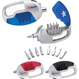 Carabiner / Screwdriver Set with Light
