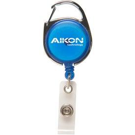Printed Carabiner Secure-A-Badge