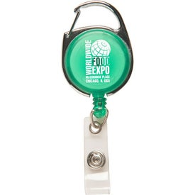 Carabiner Secure-A-Badge for Marketing