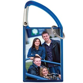 Carabiner Snap-In Photo Keytag for Advertising