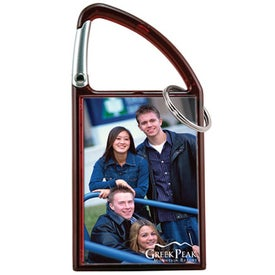 Carabiner Snap-In Photo Keytag Printed with Your Logo