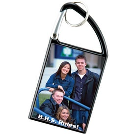 Carabiner Snap-In Photo Keytags