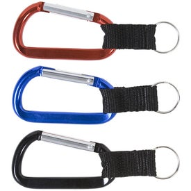 Custom Carabiner with Strap and Split Ring