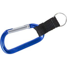 Promotional Carabiner with Strap and Split Ring