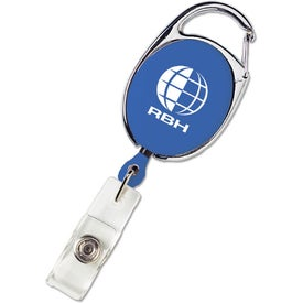 Personalized Carabiner Style Retractable Badge Holder