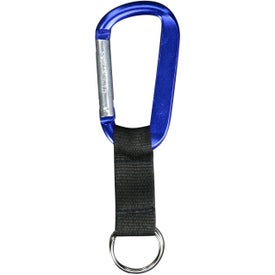 Carabiner with Black Strap (8mm)