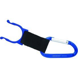 Imprinted Carabiner with Bottle Holder