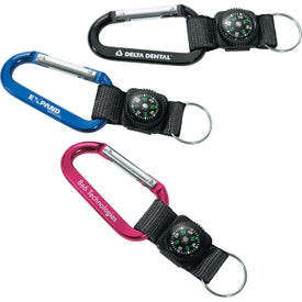 Carabiner with Compass (70mm)