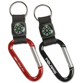 Carabiner with Compass Key Tags