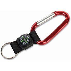 Carabiner with Compass Key Tags for Promotion