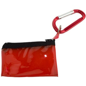 Carabiner with Key Tag Pouch for Advertising