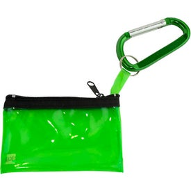 Customized Carabiner with Key Tag Pouch