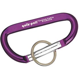 Carabiner with Ring Branded with Your Logo