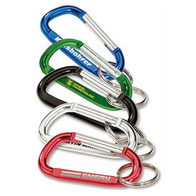 "Carabiner with Split Ring (3"" x 1.625"")"