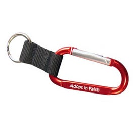 Carabiner with Web Key Chain Branded with Your Logo