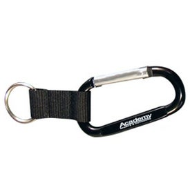Carabiner with Web Key Chain Printed with Your Logo
