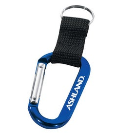 Carabiner with Web Strap and Split Ring for Your Company