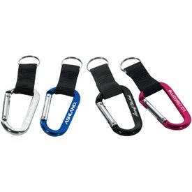 Carabiner with Web Strap and Split Ring