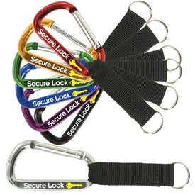 Carabiner With Strap And Key Ring