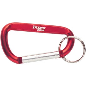 Logo Carabiners with Keyring