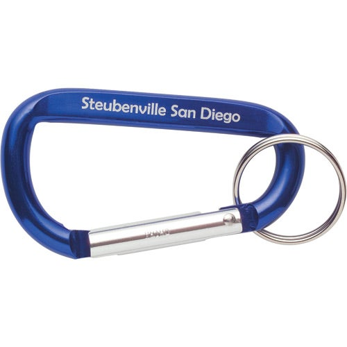 Blue Carabiner with Keyring