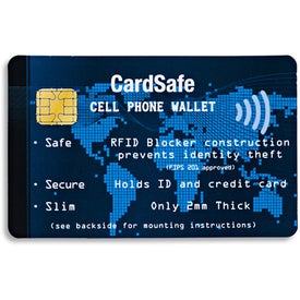 Imprinted CardSafe Cell Phone Wallet