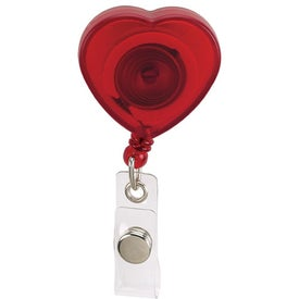 Caring Heart Retractable Badge Imprinted with Your Logo