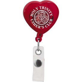 Caring Heart Retractable Badge for Marketing