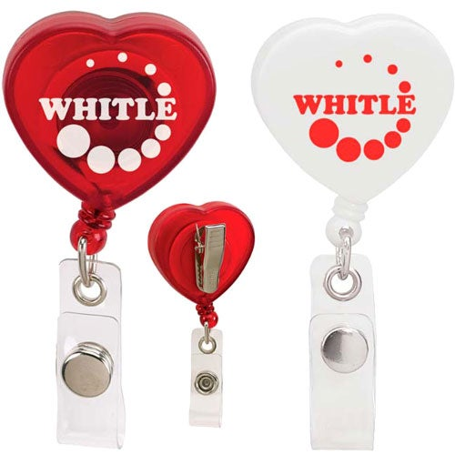 Caring Heart Retractable Badge