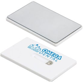 Advertising Credit Card Dental Floss with Mirror