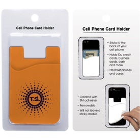 Monogrammed Cell Phone Card Holder with Packaging