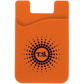 Cell Phone Card Holder with Packaging Imprinted with Your Logo