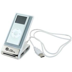 Company Cell Phone/MP3 Holder With Data Ports