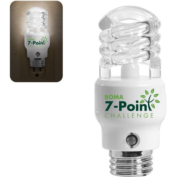 Clear w/White Base CFL Light Bulb Shaped Nightlight  sc 1 st  Quality Logo Products & Promotional CFL Light Bulb Shaped Nightlights with Custom Logo for ... azcodes.com