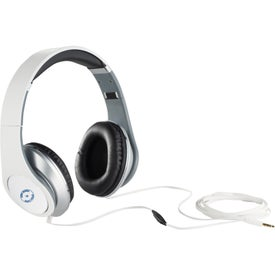 Monogrammed Chaos Headphones with Music Control