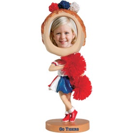 Cheerleader Photo Frame Bobble Heads