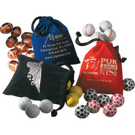 5 Chocolate Balls In Velour Pouch with Your Slogan