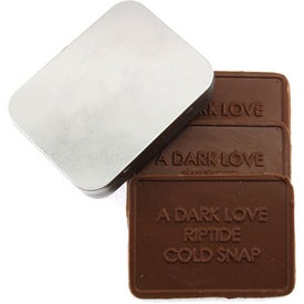 Personalized 3 Custom Molded Chocolate Bars In Tin