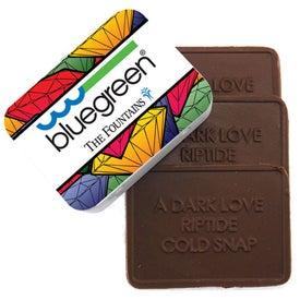 Branded 3 Custom Molded Chocolate Bars In Tin