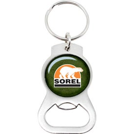 Chrome Bottle Opener Key Chain