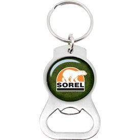 Chrome Bottle Opener Key Chain
