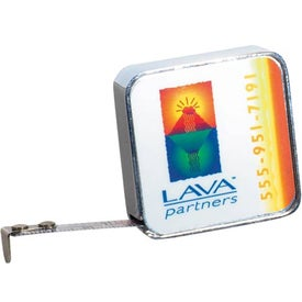 Chrome Tape Measure Branded with Your Logo