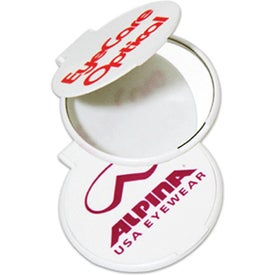Circle Mirror Imprinted with Your Logo