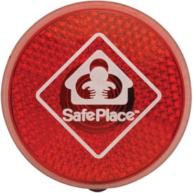 Circle Safety Flasher Imprinted with Your Logo