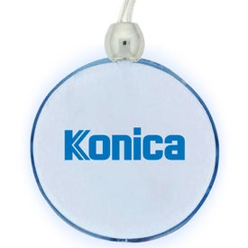 Blue Light Pendant Necklace for Advertising